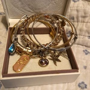 Alex and Ani bracelets- group of 6!